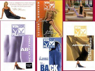 Winsor Pilates 4 DVD DELUXE SET AB SCULPTING + BACK WORKOUT + MAXIMUM BURN BASICS & FAT BURNING + ADVANCED BODY SLIMMING. Get toned and sculpted, while losing weight at the same time Movies & TV