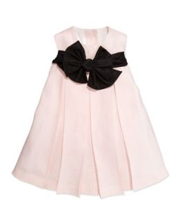 Empire Waist Dress with Back Ties, Light Pink, 12 24M   Helena   Light pink