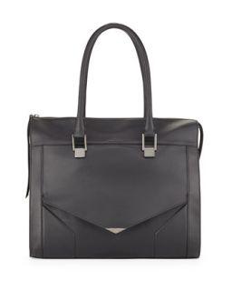 Prouve Smooth Leather Tote Bag, Black   Pour la Victoire