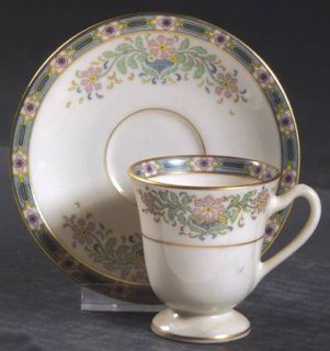 Lenox China Mystic Footed Demitasse Cup & Saucer Set, Fine China Dinnerware   Mu
