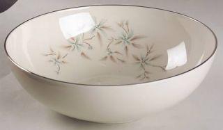 Lenox China Wyndcrest 9 Round Vegetable Bowl, Fine China Dinnerware   Blue Flow