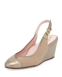 Karine Stretch Slingback Wedge, Quartz   Taryn Rose   Quartz (39.0B/9.0B)