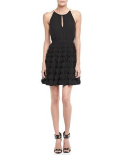 Womens Gia Halter Ruffle Skirt Dress   Diane von Furstenberg   Black (14)