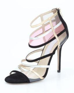 Maitai Strappy Cage Sandal, Black   Jimmy Choo   Black (39.0B/9.0B)