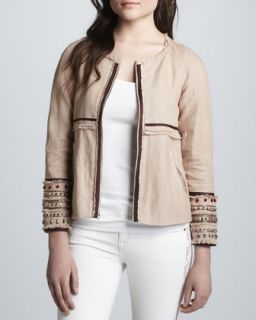 Womens Jayne Embellished Jacket   Elizabeth and James   British khaki (6)