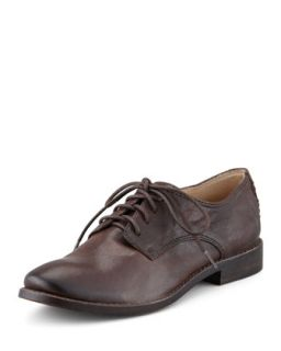 Anna Leather Oxford, Brown   Frye   Dark brown (35.5B/5.5B)