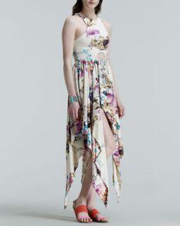 Womens Journey Stone Asymmetric Hem Dress   Kelli & Talulah   Rainbow quartz