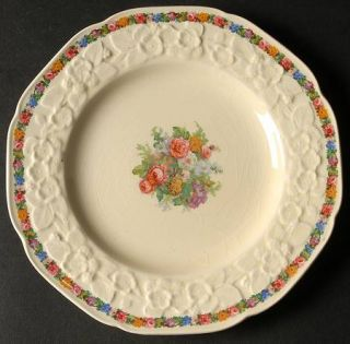 Crown Ducal Charm Salad Plate, Fine China Dinnerware   Gainsborough Shape, Flora
