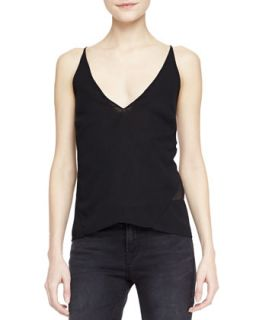 Womens Lucy Sheer Back Camisole   J Brand Ready to Wear   Black (MEDIUM)