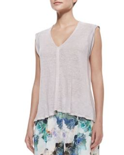 Womens Slub Jersey V Neck Top   Rebecca Taylor   Wisteria (SMALL)