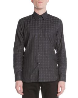Mens Pyramid Dome Jacquard Shirt, Black   Givenchy   Black (43)