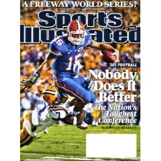Sports Illustrated October 19 2009 Tim Tebow/University of Florida on Cover, SEC Football, Los Angeles Dodgers/California Angels World Series?, Jeff Zgonina/Purdue/Houston Texans, U.S. Soccer Team to World Cup Books