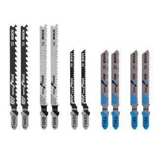 Bosch T5002 10 Piece Assorted T Shank Jig Saw Blade Set   Jigsaw