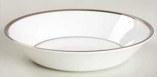 Wedgwood Carlyn Fruit/Dessert (Sauce) Bowl, Fine China Dinnerware   White, Plati
