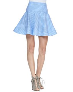 Womens Gorton Striped Flare Skirt   Milly   Groton stripe (4)