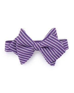 Striped Baby Bow Tie, Purple/White   Purple stripes