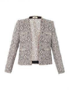 Peony jacquard collarless jacket  L'Agence