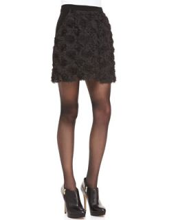 Womens Posey Embellished Short Skirt   Nanette Lepore   Black (2)