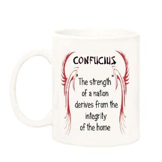 "Confucius Saying ""The strength of a nation"" Mug/Coffee Cup : Everything Else"