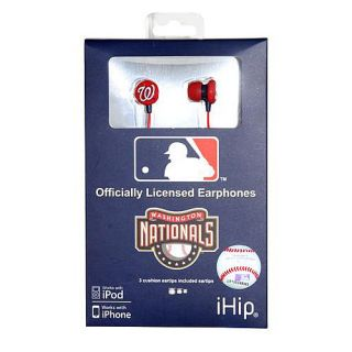 iHip Washington Nationals Logo Earbuds (HPBBWASEB)