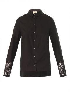 Lace insert cotton blouse  No. 21
