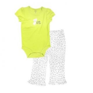 "Carter's Baby girls ""Daddy Says I'm Purr Fect"" Bodysuit Set (2 Piece): Infant And Toddler Pants Clothing Sets: Clothing"