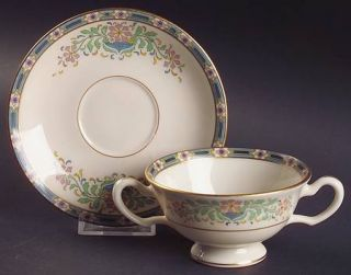 Lenox China Mystic Footed Bouillon Cup & Saucer, Fine China Dinnerware   Multico