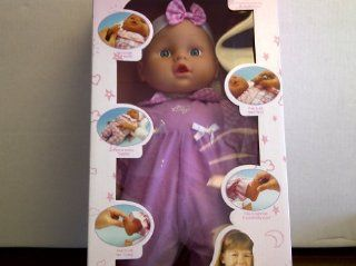 "TBC Baby Doll ""Magic Baby"" Press Hand Says Ma Ma, Press Tummy It Giggles, Press Foot to Cry, Press Hand Says Pa Pa, Press Foot Baby Sounds, and Give Milk Mouth Moves. Children 3 and Older. Two AA Batteries Included. 16 inches tall: Toys & Gam"