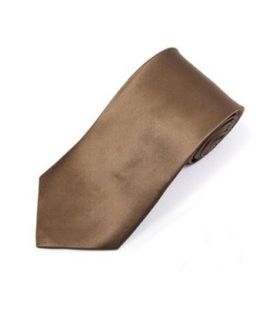 Solid Taupe Silk satin Neck Tie TheDapperTie SS1301 at  Men�s Clothing store: Neckties