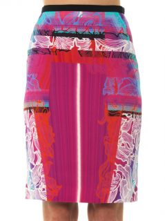 Orchid beam print crepe skirt  Peter Pilotto