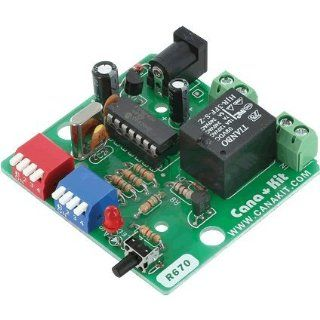 CanaKit UK670CY   Cyclic (Repeat) PIC Digital Timer with Relay (1 to 15 Sec/Min/Hour) (Assembled Module): Electronics