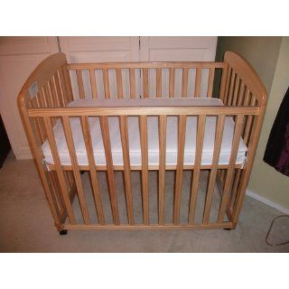 DaVinci Alpha Mini Rocking Crib   Natural : Baby Crib With Wheels : Baby