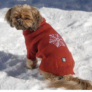 Frostys Snowflake Dog Sweater Medium Blue  Pet Sweaters