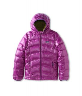 Patagonia Kids Girls Hi Loft Down Sweater Hoody (Little Kids/Big Kids) Ikat Purple
