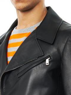 Cannes leather biker jacket  Jil Sander