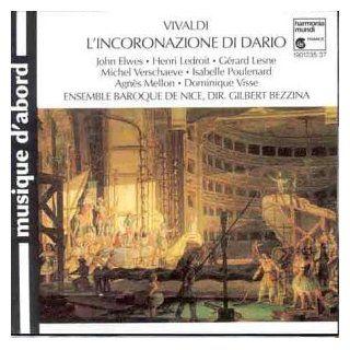 Vivaldi   L'incoronazione di Dario / Elwes � Ledroit � Lense � Verschaeve � Poulenard � Mellon � Visse � Bezzina: Music