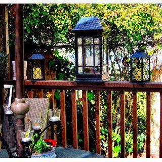 Smart Solar 3900KR1 San Rafael Mission Style Solar Lantern : Landscape Torch Lights : Patio, Lawn & Garden