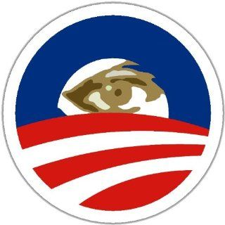 "OBAMA LOGO All Seeing Eye PINBACK BUTTON 1.25"" Pin / Badge Barack: Everything Else"