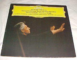 Richard Strauss Tod Und Verklarung   Death and Transfiguration   Vier Letzte Lieder   Four Last Songs   Gundula Janowitz   Berlin Philharmonic   Herbert Von Karajan (Deutsche Grammophon) Record Vinyl Album LP: Music