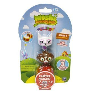 Moshi Monsters Moshlings Mini Figures   Series 1   Pack of 3 Figures (w/ 1 code): Toys & Games