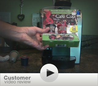 Cafe Cup Reusable Single Serve Coffee Pod, As Seen On Tv: Kitchen & Dining