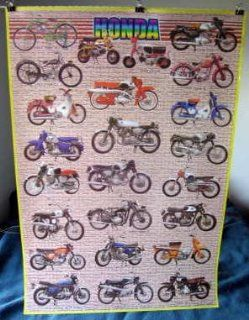 Honda motorcycles 24 models from 1948 1975 POSTER 23.5 x 34 #B Japanese motorbikes (poster sent from USA in PVC pipe)  Other Products