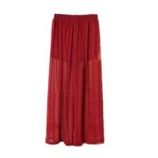 Sheer Gauze Long Length Casual Trousers, Seems Like You Are Wearing Long Skirt at  Women�s Clothing store