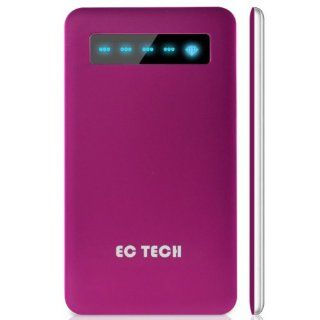 "EC TECHNOLOGY Super slim and new design in  4000mAh External Battery Pack or Power Bank and Charger (cherry color) for ""The new iPad"" the 3rd Gen ipad , iPad2 , iPhone 4S 4 3Gs 3G , iPod Touch (1G to 5G) , Motorola: Atrix 2 , Verizon Droid RAZR ,"