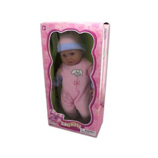 "BABY KITTY DOLL IN PINK with knit cap Open and closes her eyes. Assorted colors SENT AT RANDOM   Each window boxed. Size 15"": MP3 Players & Accessories"