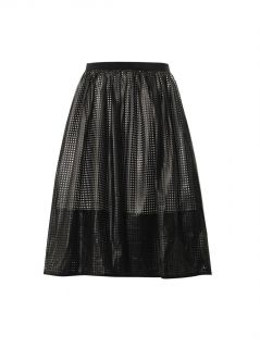 Pavement mesh faux leather skirt  Tibi