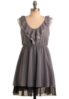 Grey Grandeur Dress  Mod Retro Vintage Dresses
