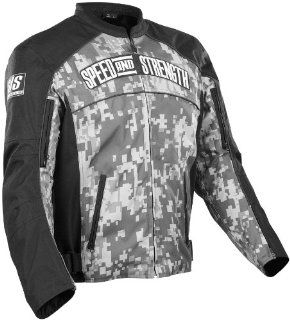 Speed & Strength Seven Sins Textile Jacket , Distinct Name: Camo, Gender: Mens/Unisex, Apparel Material: Textile, Primary Color: Green, Size: Lg 87 5570: Automotive