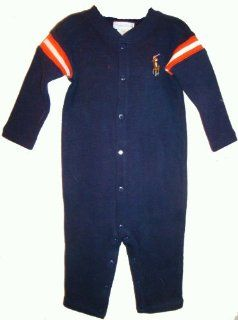 Ralph Lauren Infant Boys Romper Navy/Orange/White Available in Several Colors (3 Months): Baby
