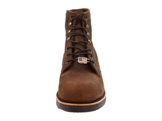 "Chippewa 6"" Apache Steel Toe Lace Up Chocolate"